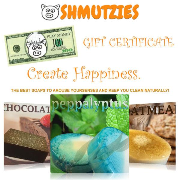 Shmutzies Bath & Body Soap: Gift Certificate